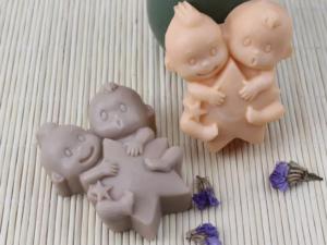 Jabón niños gemelos