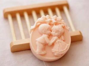 Jabón novios beso